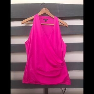 Lafayette 148 New York  Hot Pink Tank Top Large